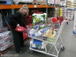 Nurse Laural does the food shopping for the party