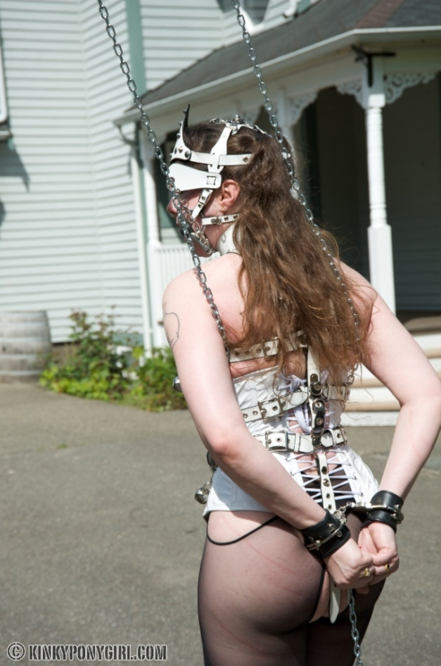 Kinky Ponygirl at House of Gord - Single Tail Whipping