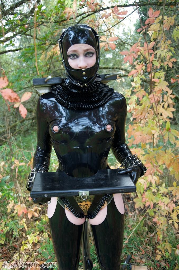 Double dildo latex maid alterpic blog-32743